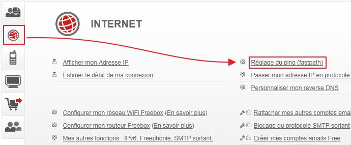 comment avoir plus de debit internet free