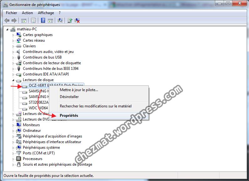 Installation de Windows 7 sur un SSD et paramétrage spécifique   cache3