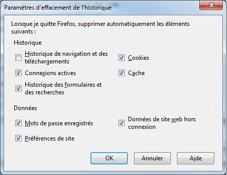 Configuration VP Parametres